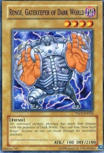Yu-Gi-Oh! - Renge, Renge, Renge, Gatekeeper of Dark World (TAEV-EN003) - Tactical Evolution - Unlimited Edition - Common by Yu-Gi-Oh!   Aspect élégant  f83dcd