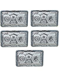 Kataria Jewellers Om & Ganesha Combo of 5 Silver Coin 5 Grams With Gift Box In 999 Purity Hallmarked Silver