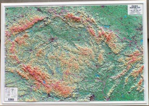 Tschechische Republik / Czech Republic 1:500.000 Relief Karte (dreidimensional-physikalische) 102x72 cm HP