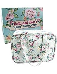 """Trousse de Toilette par Bella & Bear, le trouse de maquillage """"Glam"""" possède 4 poches zippées et un crichet à portée de main pour une tenue facile."""