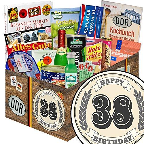38. Geburtstagsgeschenk | Spezialtiäten Geschenkset | Geschenk Korb | DDR Box | Geschenke zum 38. Geburtstag Frau | INKL DDR Kochbuch