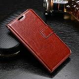 nKarta Vivo V5S Flip Cover, Vintage PU Leather Wallet Book Cover Case for Vivo V5S (Brown)