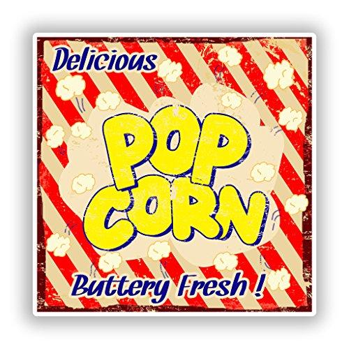 Preisvergleich Produktbild 2x Delicious Pop Corn Vinyl Aufkleber Reise Gepäck # 10145 - 10cm/101mm Wide