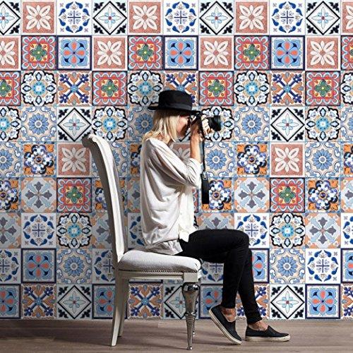 DIY Fliesen Kunst Wand Abziehbild Aufkleber HARRYSTORE 25PCs Selbstklebendes Vinylaufkleber Küche Badezimmer Dekor