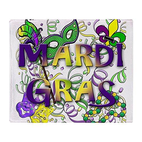 CafePress Überwurfdecke Mardi Gras 50x60 weiß