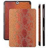 Samsung Galaxy Tab S2 9.7 Case | Cobra caramelo | Funda iCues Ancho | Disponible en otros colores y otras versiones de cuero sintético | Bolsa protectora con caja de regalo