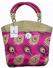 Kuber Industries Women's Cotton Mini Handbag (Pink)