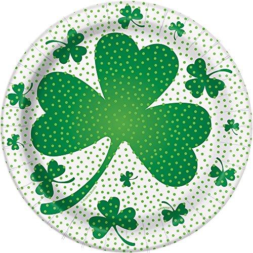 18cm Lucky Shamrock St. Patrick 's Day Party Teller, 8Stück (Shamrock Teller)
