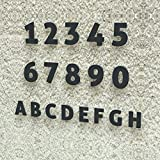 Colours-Manufaktur Hausnummer Modern 0-9 und A-H *Made in Germany* Viele Verschiedene Farben und Größen wählbar (20 cm, RAL 7016 Anthrazitgrau [Grau Anthrazit] glänzend)