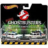 Hot Wheels - Pack de 2 coches de juguete, tema Ghostbusters (DVG08)