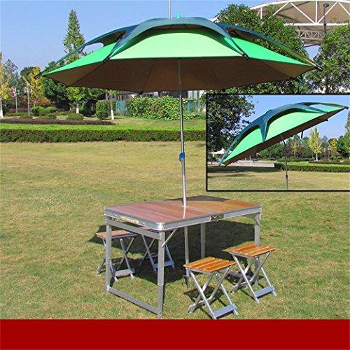 Peaceip Klapptisch Klapptisch und Stuhl im Freien Set Picknicktisch Tisch für Zuhause Klapptisch und Stuhl Klapptisch aus Aluminiumlegierung Grilltisch Bürostuhltisch Klappklapptisch, Küche und Esstis