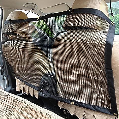 Uni Best Pet Car Net Barrier – Mesh Vehicle Pet Backseat Barrier Adjustable Divider to Keep Driver Safety , Easy to Install for