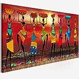 Cuadros Etnicos Arte tribale Dipinti Donne africane che ballano pittura a olio immagine for soggiorno Stampa su tela Decorazioni for la casa Poster (Size (Inch) : 50x150cm no frame)