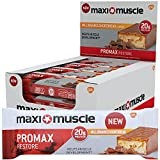 Maximuscle Promax High Protein Bar, 60 g – Millionaire Shortbread, Pack of 12
