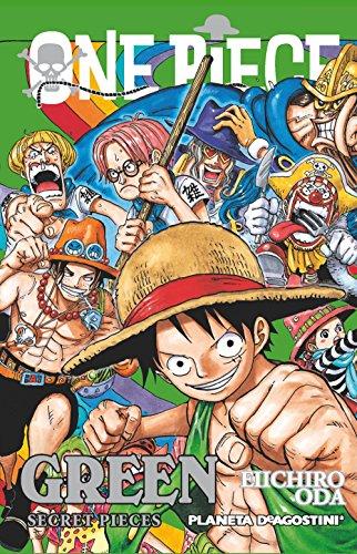 Llega la guía GREENa nuesto país. Contiene información de los personajes más famosos de la serie, resúmenes de sus aventuras, bocetos, etc.Título original: One Piece Green