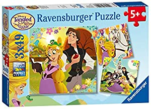 Ravensburger Disney Tangled - Puzzles de sierra (3 unidades, 49 piezas)