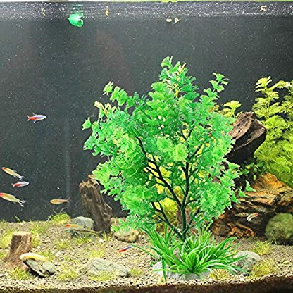 Homim Large Aquarium Simulation Water Plants Plastic Fish Tank Artificial Glass Decorations 3