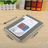 DZW Categoria di qualità di lusso Notebook cancelleria Indice più spessa etichetta notepad Ufficio ufficio Student Surface Cuoio , 16k space ash single package (send signature pen)