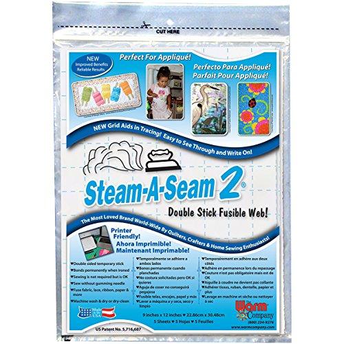The Warm Company Steam-A-Seam 2 Double Stick Vlieseinlage, Baumwolle, 9