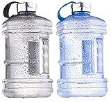 Speeron Sportflasche: Auslaufsichere Trinkflasche mit Tragegriff, 2,3 l, BPA-frei, 2er-Set (Wasserflaschen)