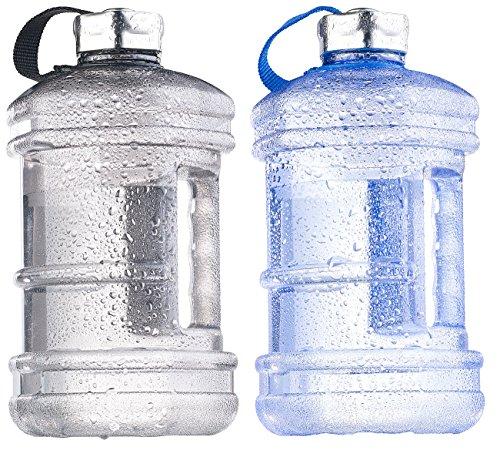 Speeron Sportflasche: Auslaufsichere Trinkflasche mit Tragegriff, 2,3 l, BPA-frei, 2er-Set (Camping Flasche) -