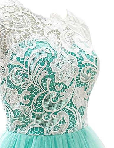 MicBridal - Robe - Trapèze - Femme Vert Vert Rose - Koral