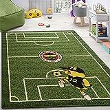 Kinderteppich Spielzimmer Fußball Teppiche Fußballplatz Maskottchen Bedruckt Grün, Grösse:133x190 cm