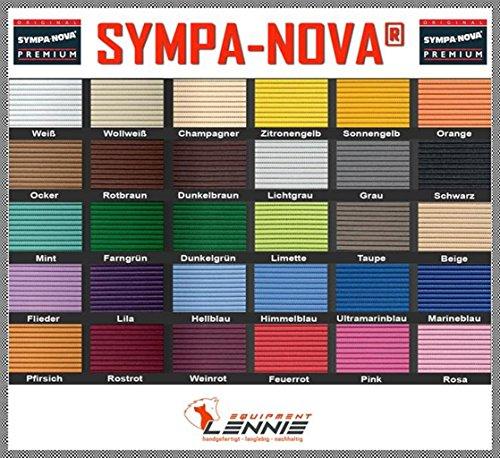 SYMPA-NOVA-Premium Meterware, 65 cm breit, Länge: 100 cm, Farbe: Feuerrot, Polster-Matte