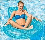 YOUYONGSR 135 Cm aufblasbare Pool Float Stuhl Schwimmen Ring aufblasbare Matratze riesiger Pool Spielzeug Sonnen Strand Party Wasser Ride-On Blau