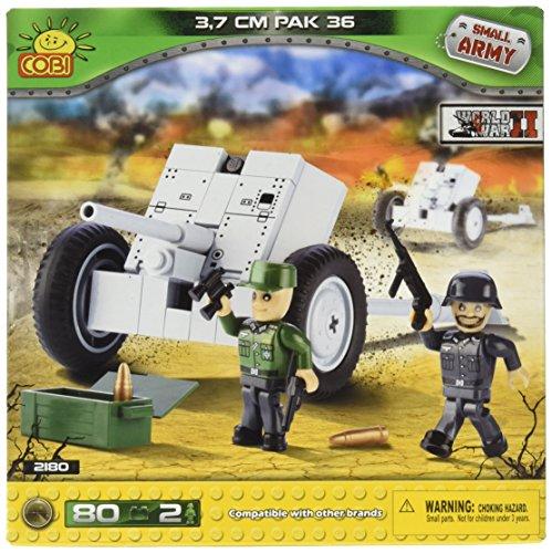 Preisvergleich Produktbild COBI 2180 - Small Army WWII PAK36 3.7cm - 80 Bausteine