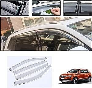 Saitake Windabweiser Für Skoda Karoq 2018 2019 4pcs Autofenster Visier Sonne Regen Rauchabzug Schatten Klebeband Außenvisiere Auto