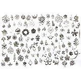 Lecimo20pcs Tierform Silber Mix Charm Anhänger Schmuckzubehör DIY Handwerk Geschenk