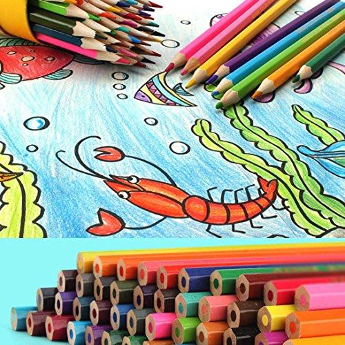 Crayons de Couleur, Internet Cylindre de 24 Crayons de Peinture - Crayons Graffiti/Crayons à Dessin