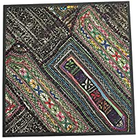 Mogul Interior Banjara Indian Throw Pillow Cover Vintage Kutch Embroidered Tapestry Wall
