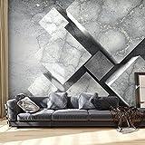 murando - Fotomurali - 400x280 cm - Carta da parati sulla fliselina - Carta da parati in TNT - Quadri murali XXL - Fotomurale concreto grigio Astratto 3D geometrico f-B-0099-a-a