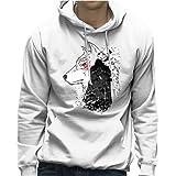 Once Crow Jon Snow and Ghost Game of Thrones Men's Hooded Sweatshirt