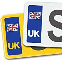 Signs247 UK Union Jack Flag Car Number Plate Vinyl Stickers United Kingdom EU Brexit GB