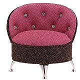 non-brand Sharplace Puppenhaus Sofa Stuhl Möbel Form Schmuckdose Schmuckkästchen mit Spiegel für Halskette Ohrringe usw. - Rosa + Kaffee