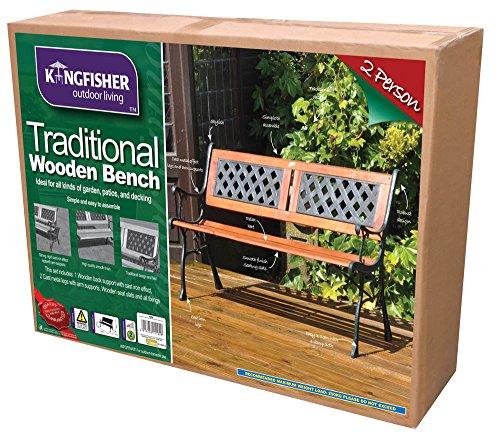Kingfisher F2PB Gartenbank aus Holz, für 2 Personen - 3