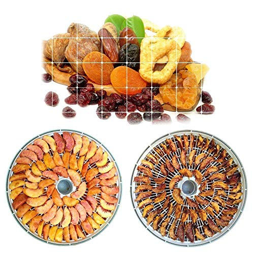 Jukkre Food Dehydrator, Electric Digital Food Dehydrator Machine for Jerky, Fruit, Vegetables & Nuts, Vegetable Dryer with Timer and Temperature Control, Home leader Food Dehydrator with Five Trays