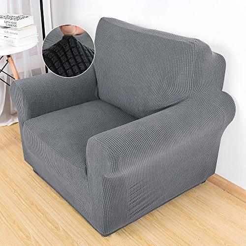 Hootecheu Sofabezug Sesselbezug Sesselhusse Elastisch Karierte Sofahusse Stretch Chair Cover...