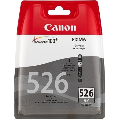 Canon CLI-526 GY - Cartucho de tinta para Pixma MG 6150/6250 (9 ml, blister + alarma de seguridad),