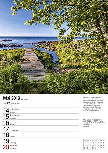 Skandinavien - Kalender 2018: Wochenplaner, 53 Blatt mit Zitaten und Wochenchronik: Alle Infos bei Amazon