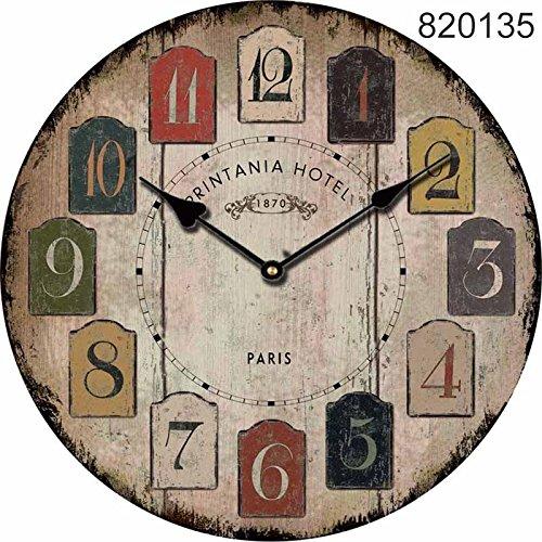 eiten einzigartige Küche Vintage Style Decor Holz Wanduhr Wand Dekor Jubiläum Geschenk Mahlzeit Planung Küche Uhren Wand (5) ()
