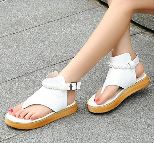 Wealsex Sandales Flip Flop Plates Femme Tongs Confortable Chaussure Été Voyage Plage Blanc