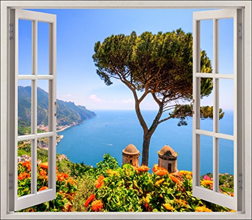 Stickersnews adesivo trompe l'oeil bella finestra per ref 5475, 120x105cm