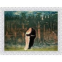 LuxHomeDecor marco impresión sobre lienzo con marco de madera Edvard Munch Lovers