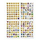 NOVSIX 16 Pack Emoji Aufkleber Set, Instagram, Facebook, Twitter, iPhone Emoji Aufkleber, 2 Größen