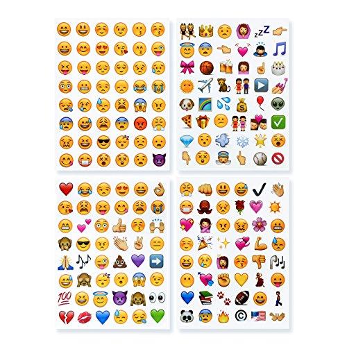 emoji sticker NOVSIX 16 Pack Emoji Aufkleber Set, Instagram, Facebook, Twitter, iPhone Emoji Aufkleber, 2 Größen