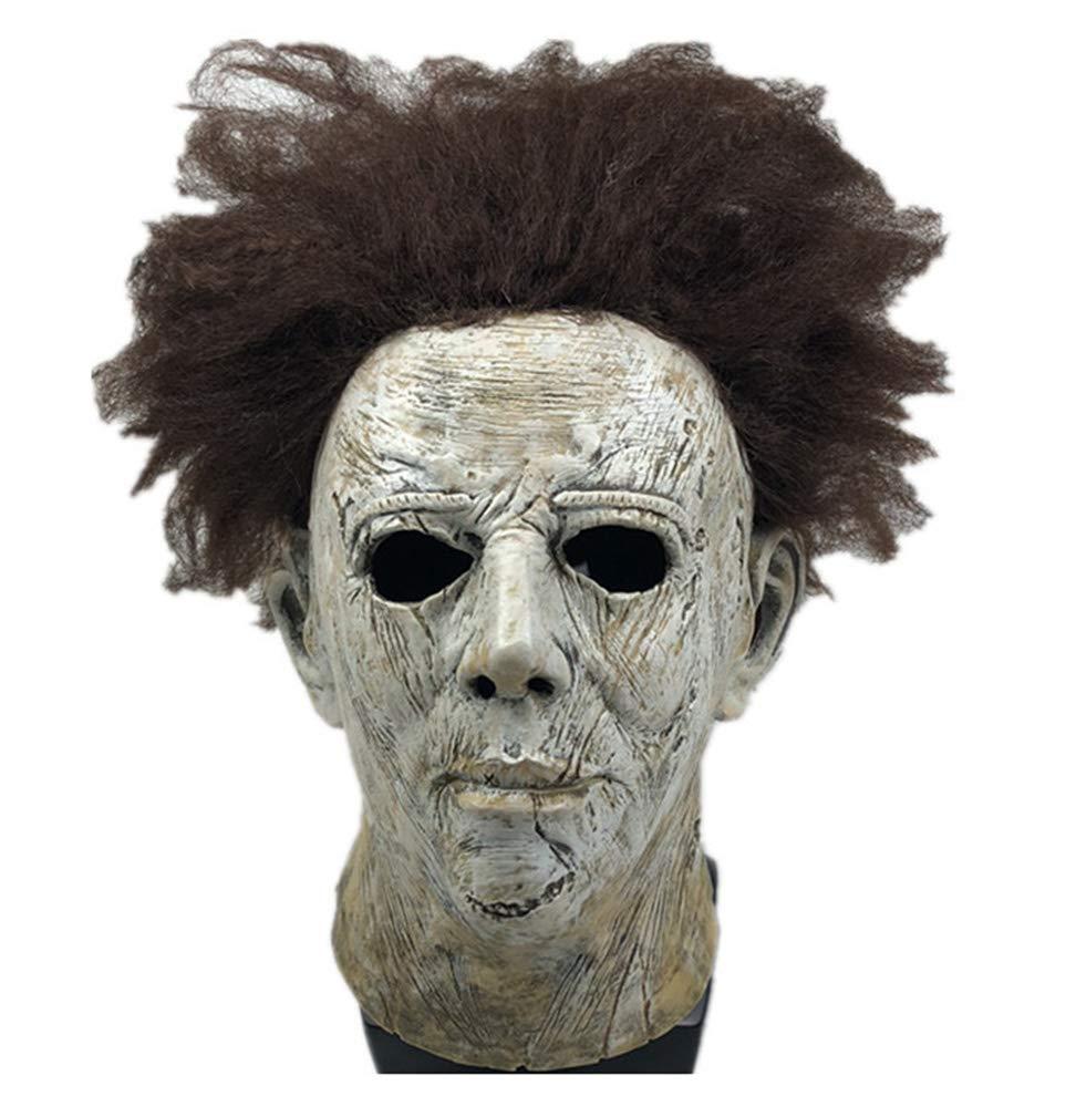 Yacn Movie Halloween 2018 Máscara de Michael Myers con Belleza de Cabello, Máscara de Cabeza Adulto Cosplay